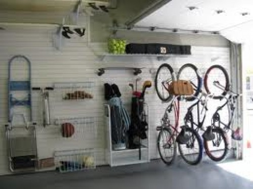 Golf Clubs in Garage