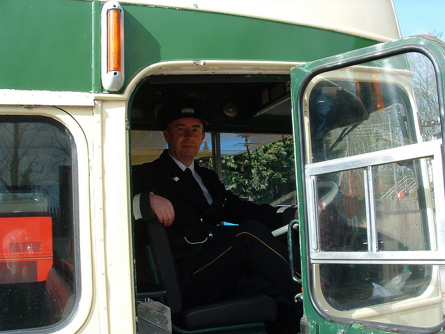 A trainee bus driver