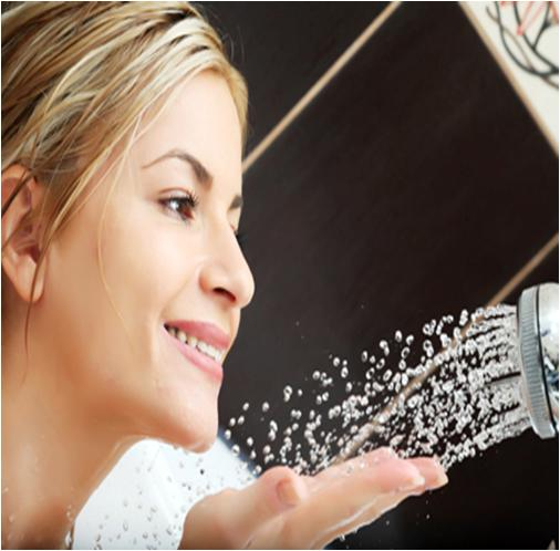 Taking Hot Shower to Treat Skin with Steam