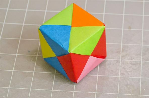 turn a hexagon into a cube