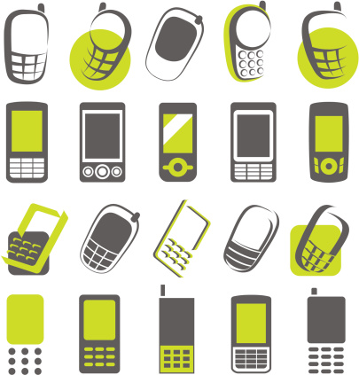 Mobile phones. Elements for design.