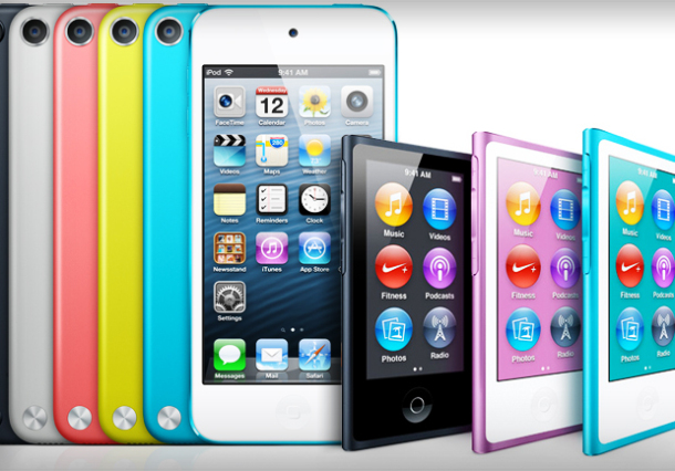 iPod touch and iPod nano