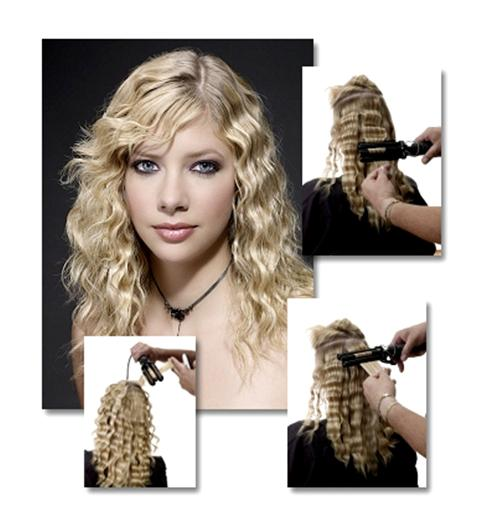 Curling Hair with Triple Barrel Waver