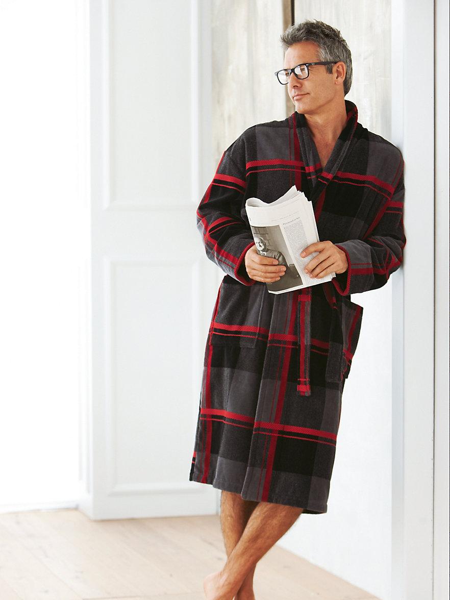 Man in a bathrobe.