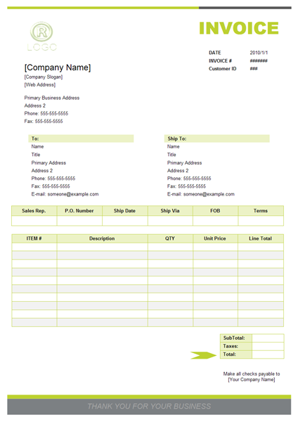 How to Write a Sales Invoice