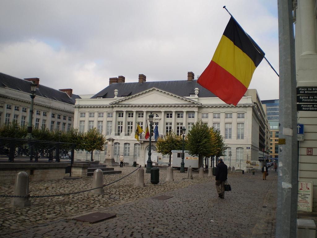 Flying Belgium Flag