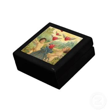Valentine's Day Boxes with Victorian Cards