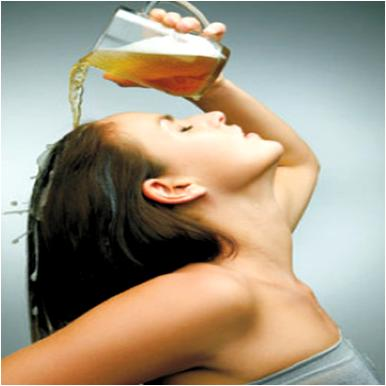 Beer Treatment for Dull Hair