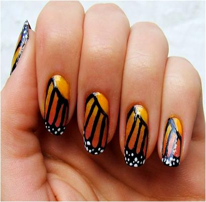 Butterfly Nail Art for Summer Manicure
