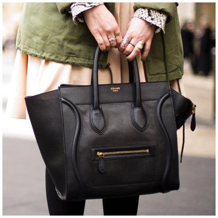 Trendy Celine Luggage Tote in Black