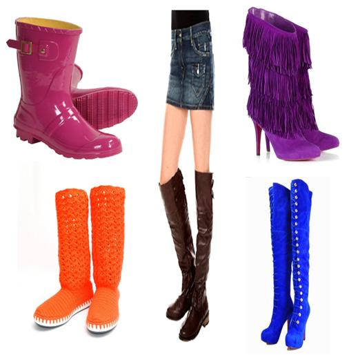Cool Long Boots to Wear with Denim Skirt