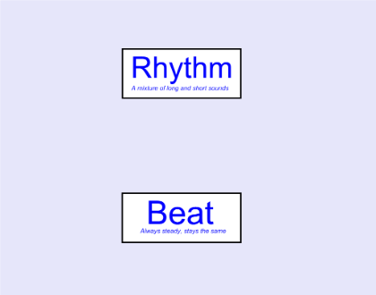 Beat and rhythm