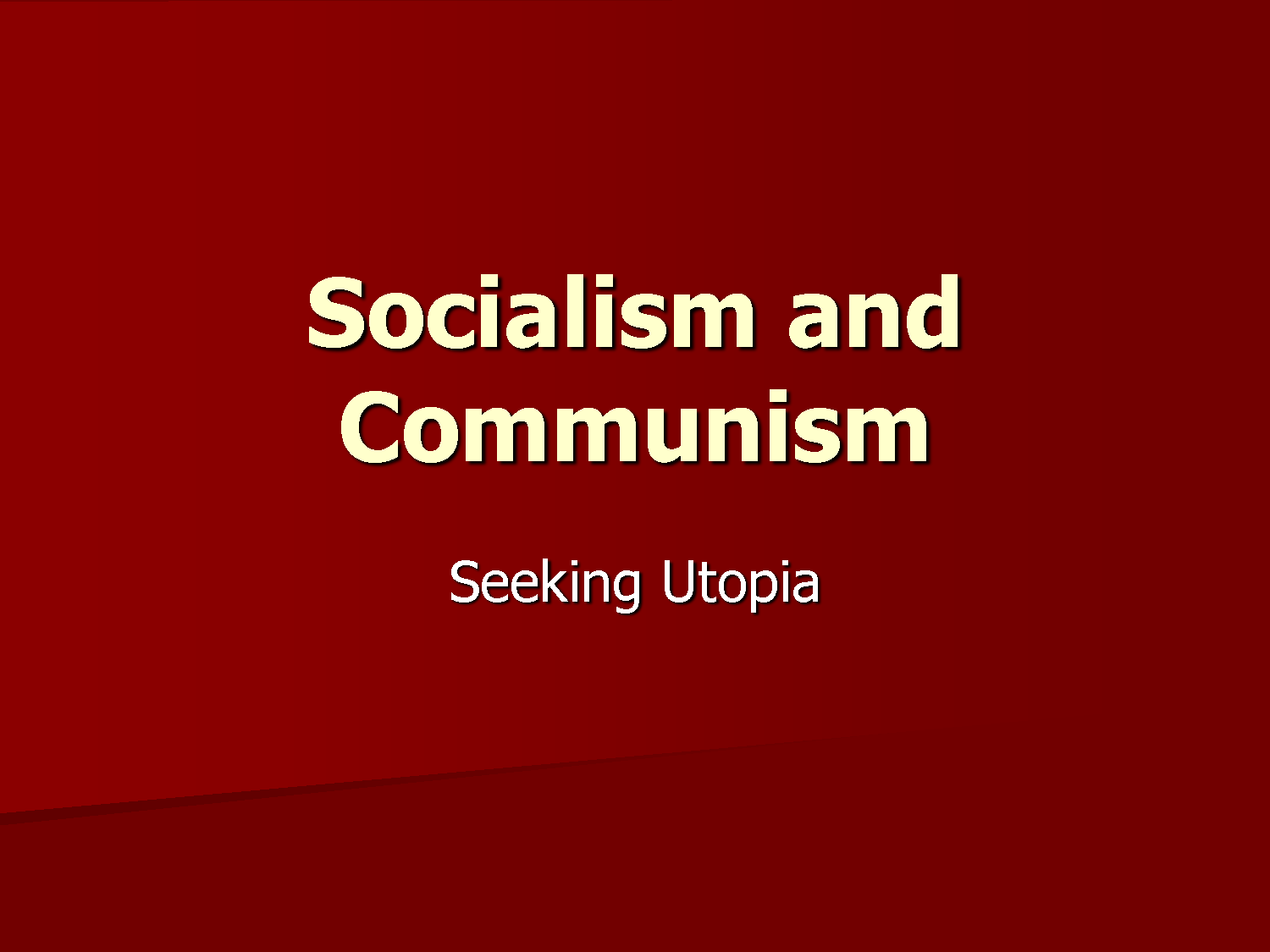"an analysis of the differences between communism and socialism Socialism is often seen as the half-way mark capitalism and communism  businesses because ""power is diffused between many  capitalism vs socialism:."