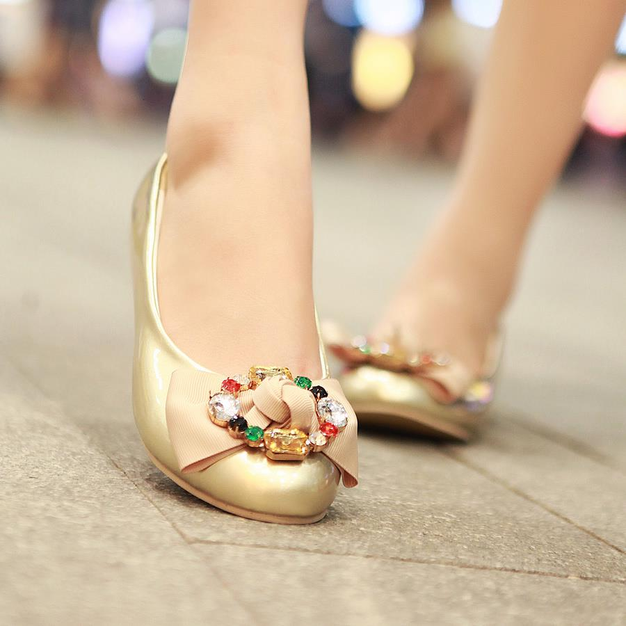 girl in golden shoes