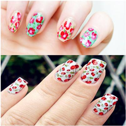 Flower Nail Art for Summer Manicure