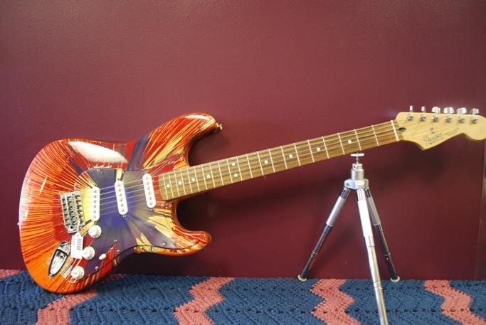 Custom Painted Electric Guitar