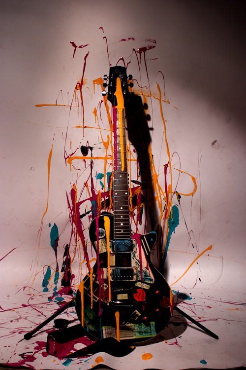 Paint on the guitar