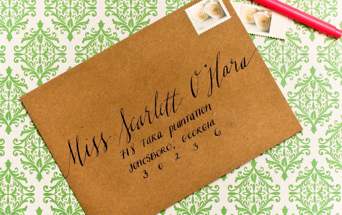 An envelope with attention