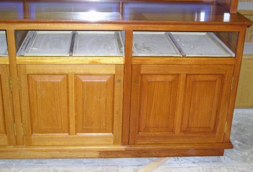 Apply Gel Stain Over a Pre-Finished Cabinet