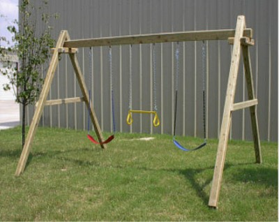 How to build wood framed swing sets for Swing set frame only