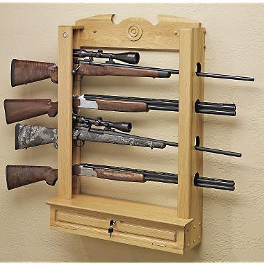 Gun Rack for a Wall