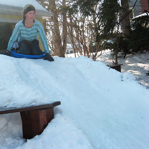 Build a Snow Sledding Hill In