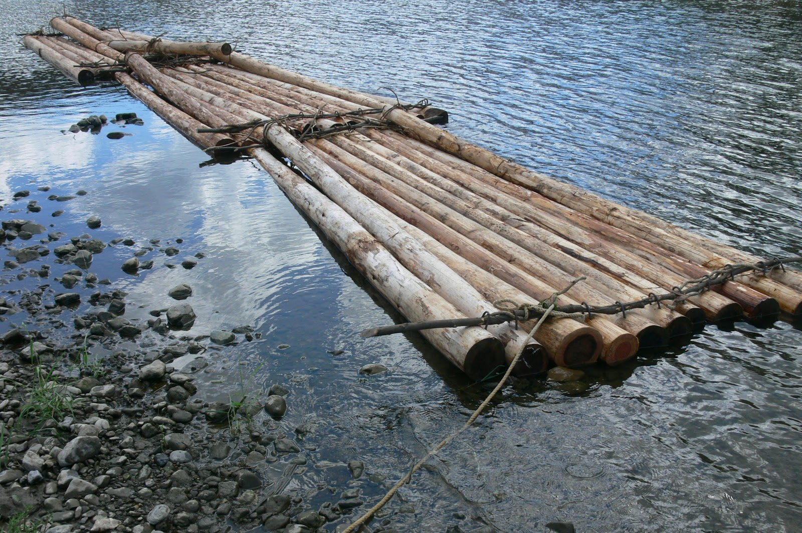 Build a wooden pontoon boat