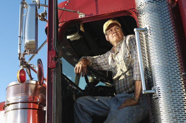 Truck Driver in Semi Truck