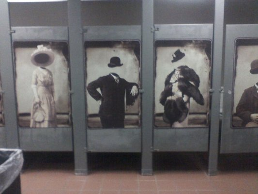 Clean Bathroom Stall Doors