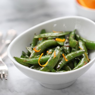 Snap Peas with Butter