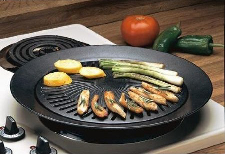 Cooking on a Stove Top Grill