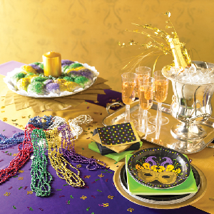 Design a Mardi Gras Party Table
