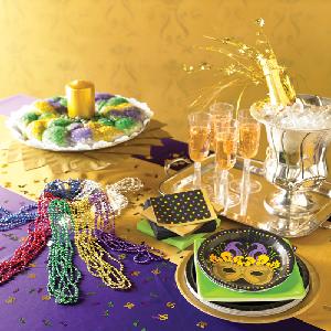Design a Mardi Gras Party Table