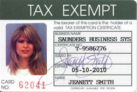 Tax-Exempt Number
