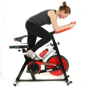 Hovering on a spinning bike