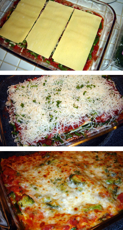 Layering Lasagna Noodles