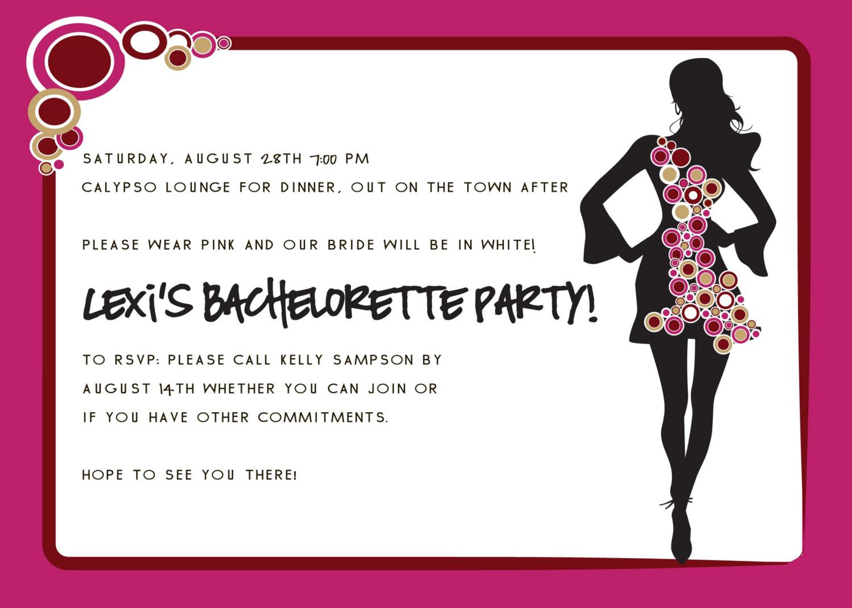 Making Bachelorette Party Invitations