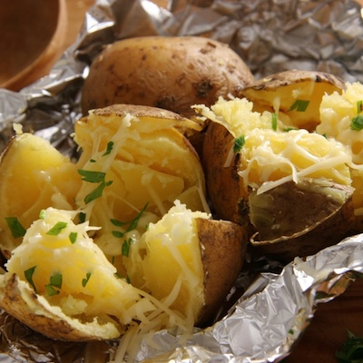 Make Baked Potatoes on the Grill