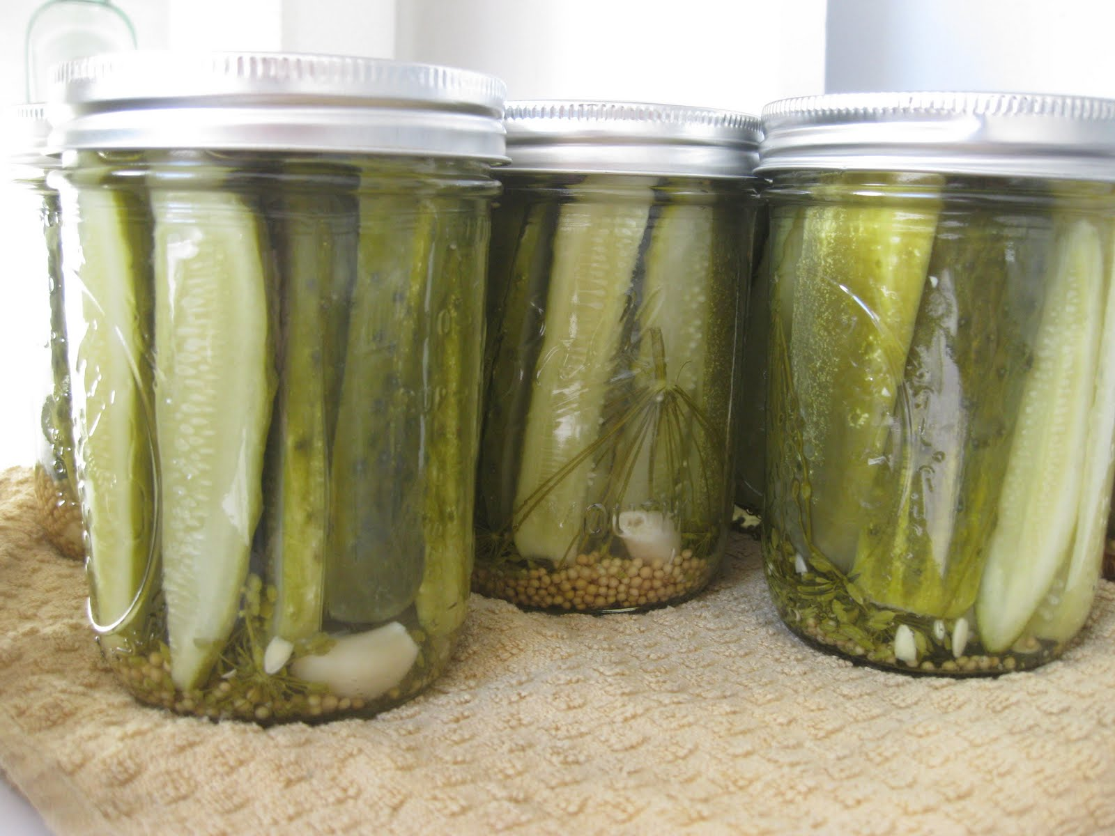 Pickles, crisp and sour