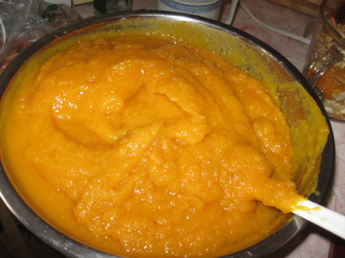 Delicious pumpkin puree