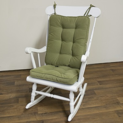 Rocking chair with tie cushions