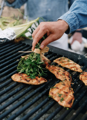 Basting Brush With Herbs