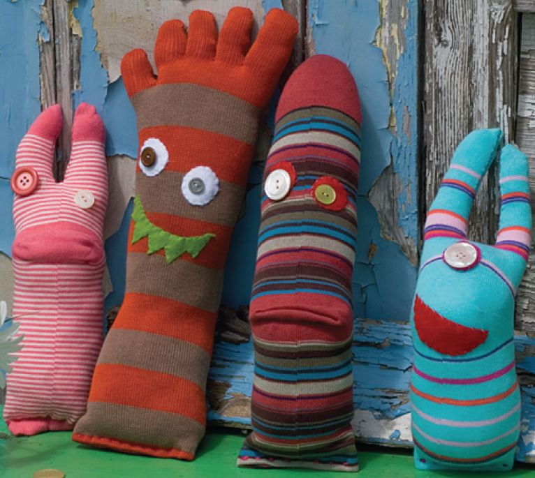 Make a Sock Monster by Hand