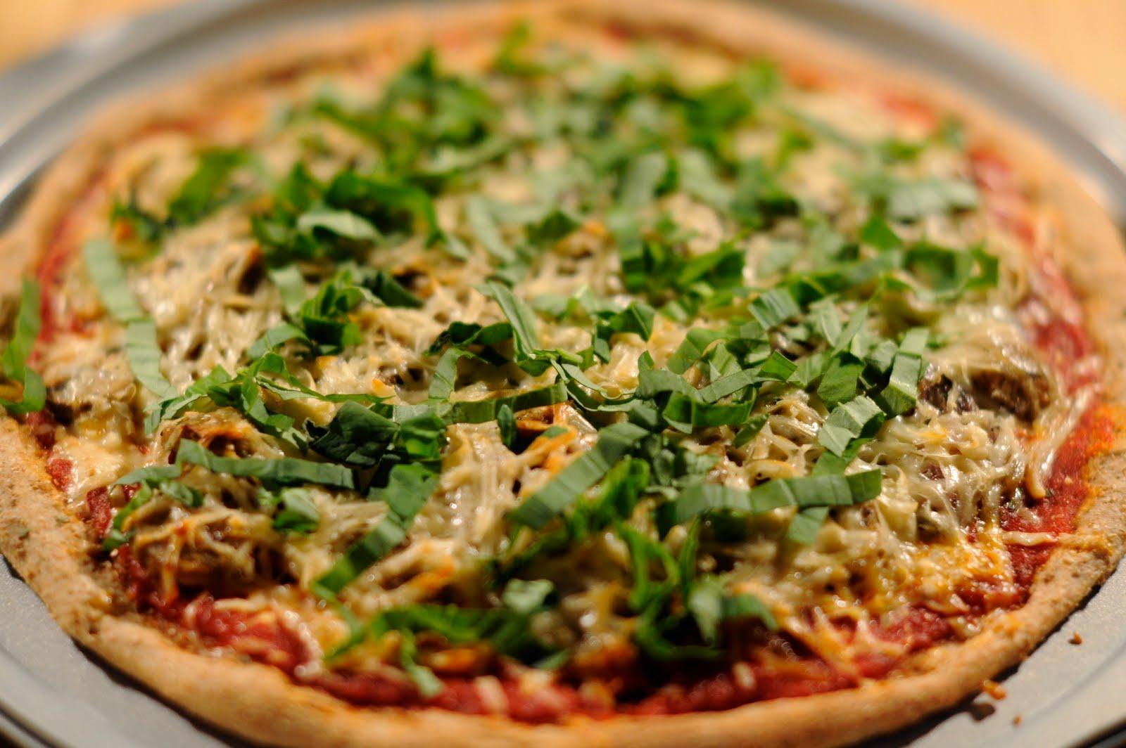 Vegan pizza, delicious