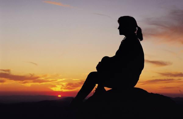 Sitting in solitude
