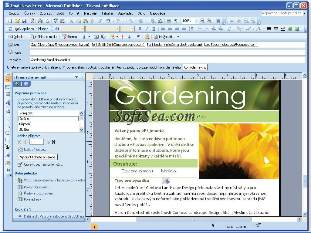 Microsoft Publisher in action