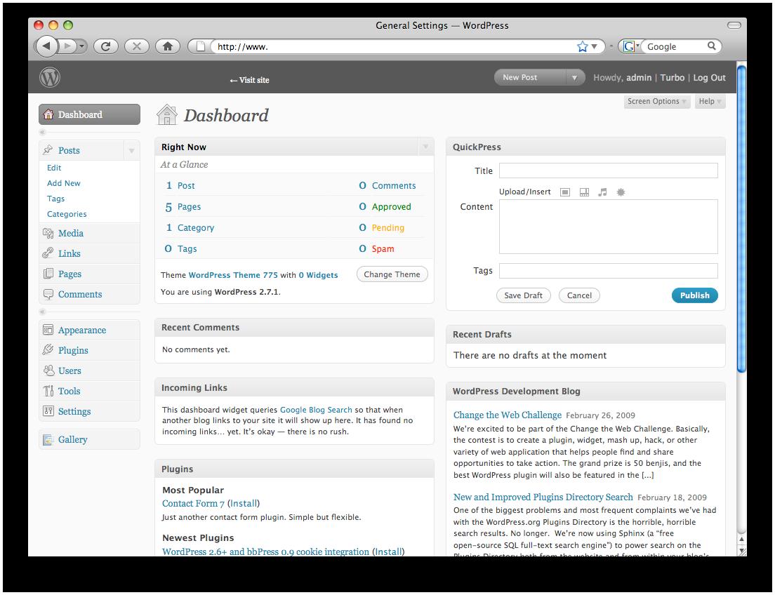 Wordpress makes it easy