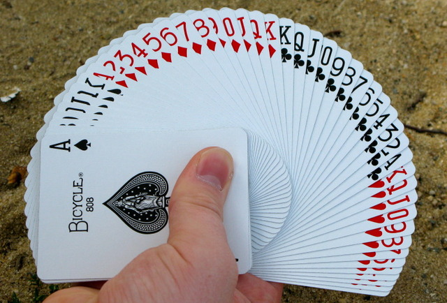 Deck of cards fanned out