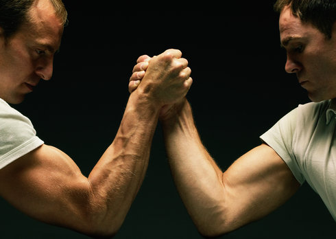 Size Up an Arm Wrestling Opponent