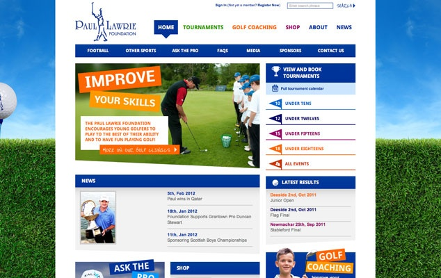 A golf website